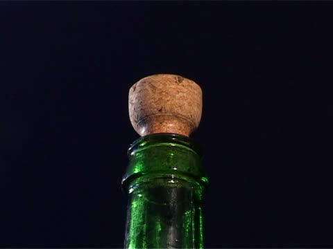 shot stopper the bottle of champagne - cork stopper stock videos & royalty-free footage