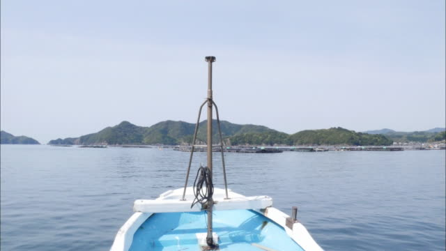 POV Shot taken from boat heading out from Ago Bay