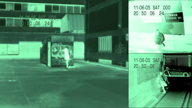 shot to illustrate security, technology and identity themes - night vision stock videos and b-roll footage