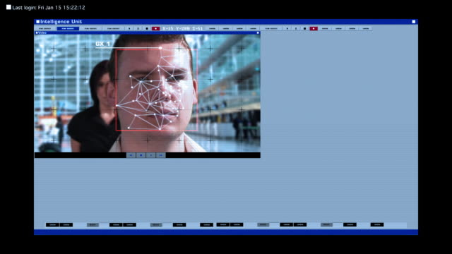 stockvideo's en b-roll-footage met shot to illustrate security, technology and identity themes - identity