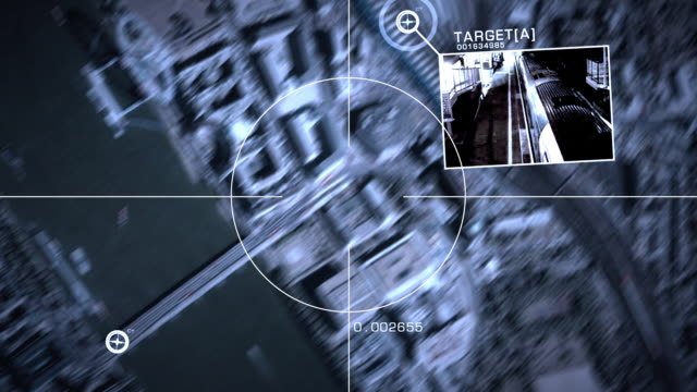 vidéos et rushes de shot to illustrate security, technology and identity themes - surveillance