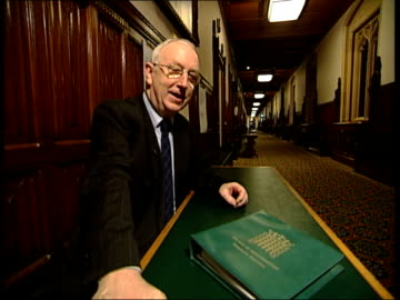 shots ceilings and statues in parliament soft focus feet walking 2 shot george mudie mp interview sot - as an ex whip you are totally pragmatic/ you... - soft focus stock videos & royalty-free footage