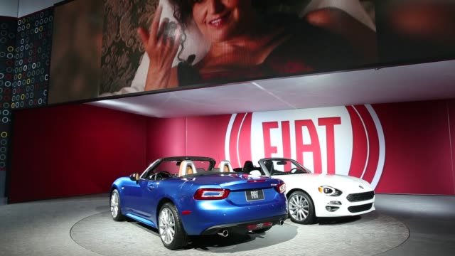 Shots focus on the Fiat section of the Los Angeles Auto Show held at the Los Angeles Convention Center in Los Angeles California on November 19th...