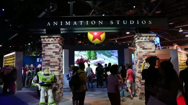 Shots focus on Toy Story images and displays at the D23 Expo 2015 in Anaheim California US on Friday Aug 14 2015 Shots Close up shots of Woody and...