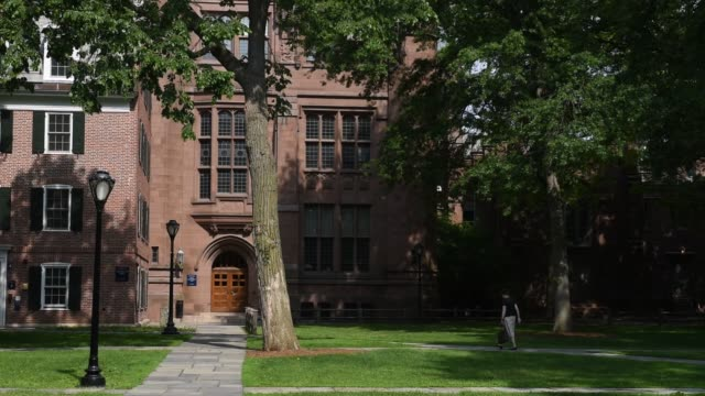 Shots in the area of Yale University referred to as the Old Campus in New Haven CT shot June 12 2015 Shots Wide shots of Linsly Chittenden Hall as...