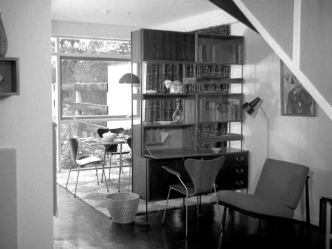 shots inside a typical modern 1950's home. - modern stock videos & royalty-free footage