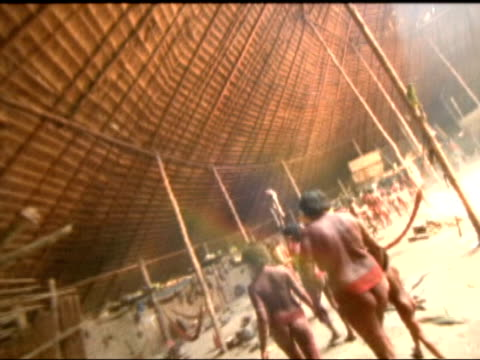 Shots of Amazon jungle river indians intercut with shots of artefacts in British Museum London British Museum Colin McEwan interviewed SOT Think...