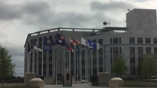 shots of an overcast day with the monumental liberty bell and blowing flags in foreground and capitol building in background additional shot of a... - liberty bell stock videos & royalty-free footage