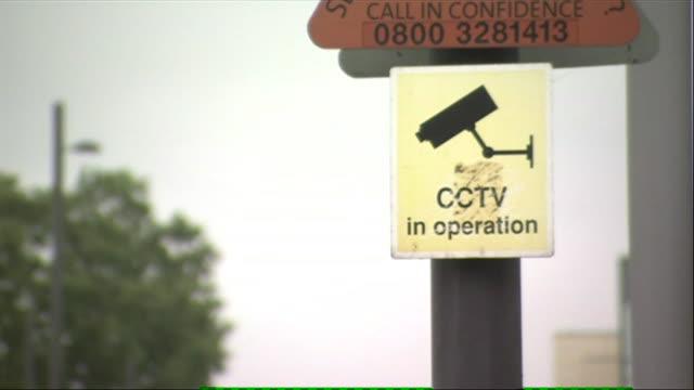 vídeos de stock, filmes e b-roll de shots of cctv video surveillance camera - sinal de advertência