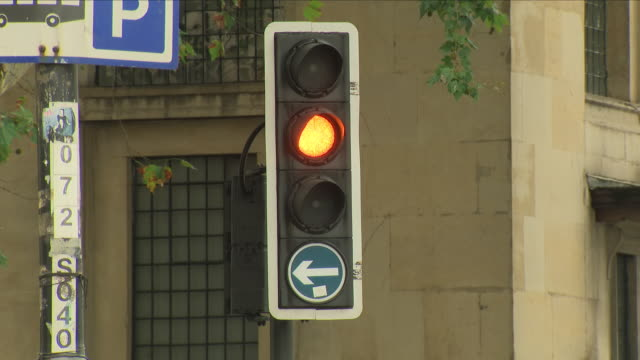shots of changing traffic lights - walk don't walk signal stock videos and b-roll footage