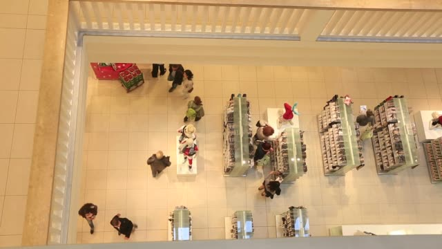 Shots of escalators mannequins and consumer goods nside a Galeria Kaufhof department store in Berlin Germany on Friday June 19 2015 Shots camera...