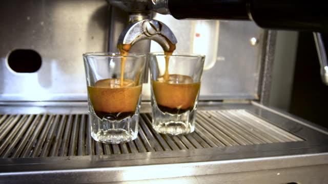 Aufnahmen von Espresso, hergestellt
