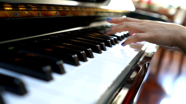 3 shots of hands on piano - piano stock videos and b-roll footage
