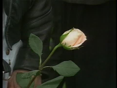 shots of kurt cobain fans at memorial - memorial stock videos & royalty-free footage