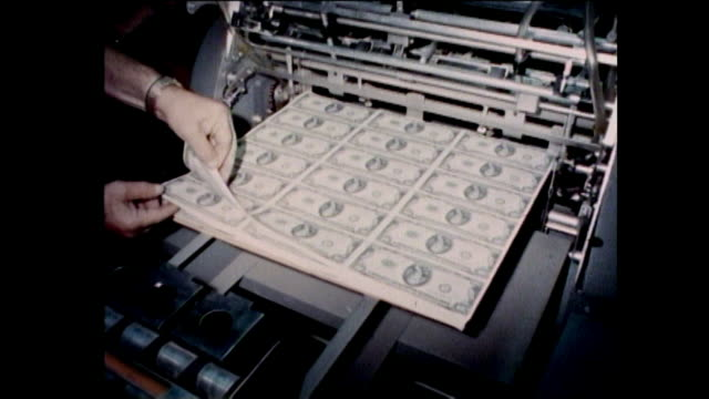 shots of money being printed money printing machine - film crew stock videos & royalty-free footage
