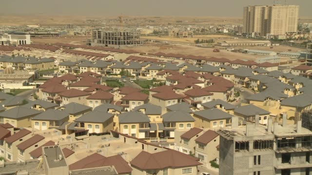Shots of new homes and building construction in Eribl in northern Iraq during ISIL conflict in 2014
