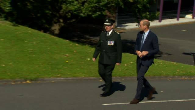 GBR: The Duke of Cambridge visit to the Police College in Belfast
