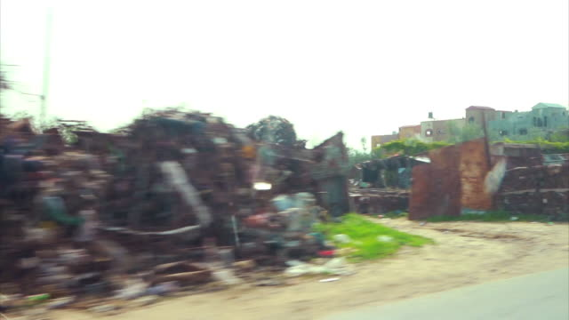 pov shots of roadside buildings and daily life in gaza - israel palestine conflict stock videos & royalty-free footage