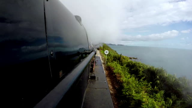 pov shots of steam train going through tunnel - locomotive stock videos & royalty-free footage