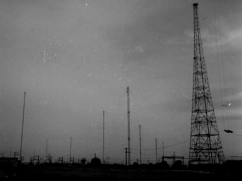 vidéos et rushes de shots of the bbc's transmitting station at daventry. - fréquence radio