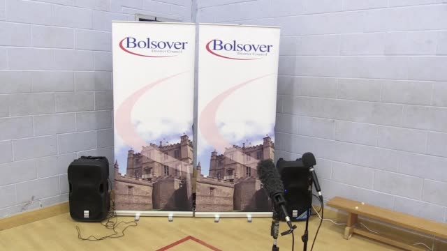 shots of the empty count hall for the bolsover count at the arc, clowne. the candidates standing for election are: conservative: mark fletcher... - hoy stock videos & royalty-free footage