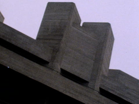 shots of the exterior of the new national theatre on the southbank of the thames. march 1976. - concrete stock videos & royalty-free footage