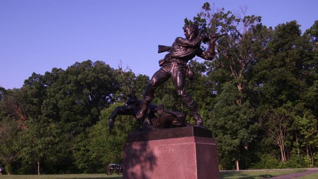 stockvideo's en b-roll-footage met shots of the louisiana memorial at the gettysburg national military park in gettysburg, pennsylvania. - gettysburg