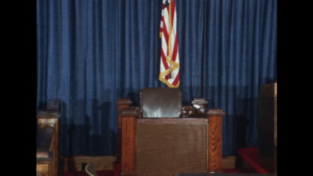 shots of the military courtroom at fort benning where lt william calley will be tried for his alleged actions during the my lai massacre in vietnam - war crimes trial stock videos & royalty-free footage