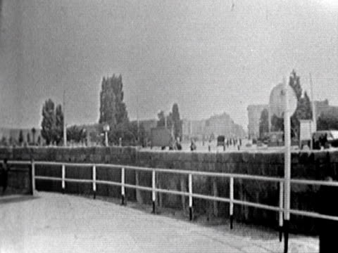 shots of the newly built berlin wall august 1961 - 1961 stock videos & royalty-free footage