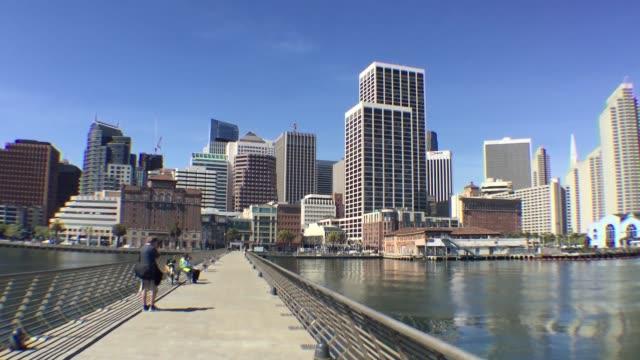 stockvideo's en b-roll-footage met shots of the san francisco pier - veerbootgebouw