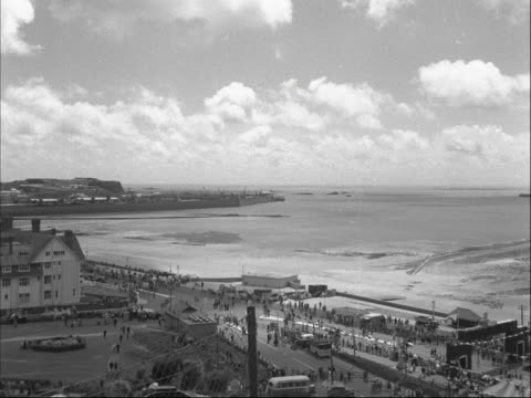 shots of the seafront at st helier jersey - kanalinseln stock-videos und b-roll-filmmaterial
