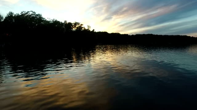 aerial shots of the sunset and lake - minnesota stock videos & royalty-free footage