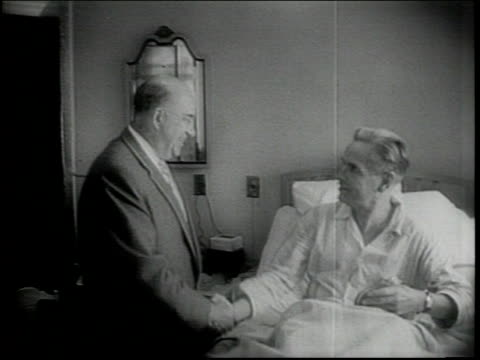 vídeos de stock e filmes b-roll de shots of will rogers hospital / directors of hospital inspect premises / walsh visits patient / o'donnel gives speech on fight against tb / narrated - tuberculose