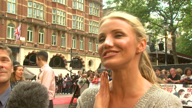 should be at the 'knight and day' uk premiere at london england - cameron diaz stock videos & royalty-free footage