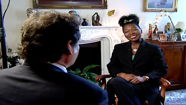 uk should produce more children's television programmes says ofcom floella benjamin interview sot - floella benjamin stock videos & royalty-free footage