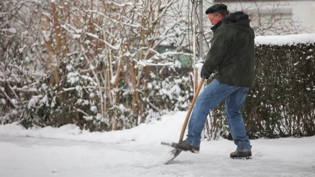 Shoveling winter snow