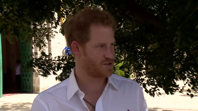Show exterior shots interview with Prince Harry and Popster Rihanna speaking on importance of getting tested for HIV Singer Rihanna Prince Harry and...