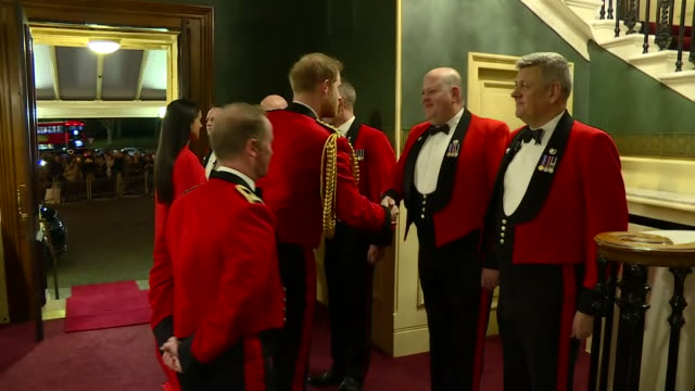 show interior shots meghan, duchess of sussex and prince harry duke of sussex arriving at the royal albert hall for the mountbatten festival of... - royal albert hall stock videos & royalty-free footage