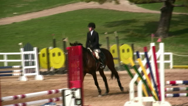 hd: show jumping - horseback riding stock videos & royalty-free footage