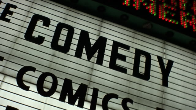 'COMEDY' Show Marquee Sign