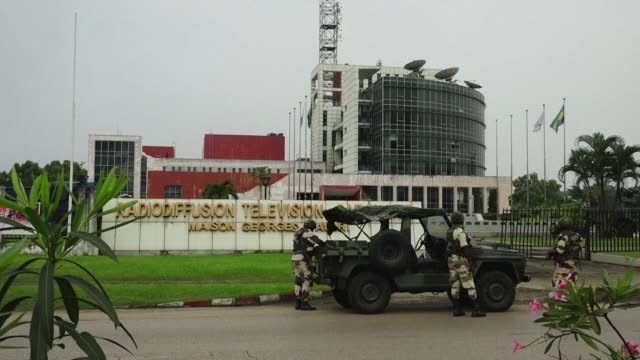 show the military presence on the streets of libreville capital of gabon following an attempted coup d'etat - coup d'état stock videos & royalty-free footage