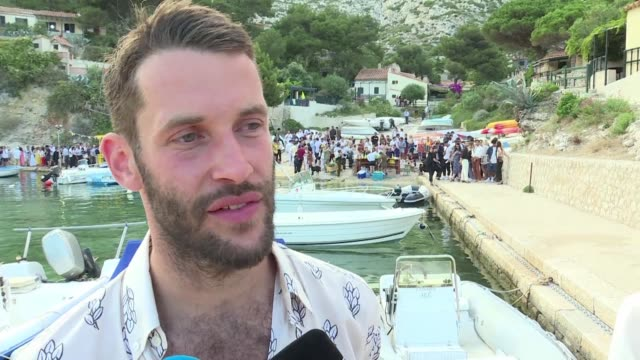 A show with barefoot models on a beach near Marseille is how French designer Simon Porte Jacquemus decided to present his first menswear collection