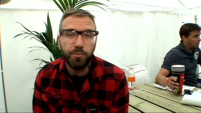 reading festival 2009: dallas green interview; england: reading: berkshire: int dallas green interview sot - on the differences between the main... - reading and leeds festivals stock videos & royalty-free footage