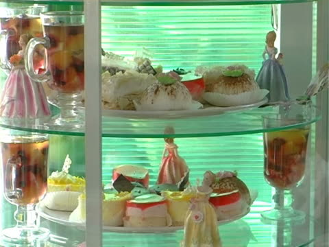 showcase pastry shop - gelatin stock videos and b-roll footage