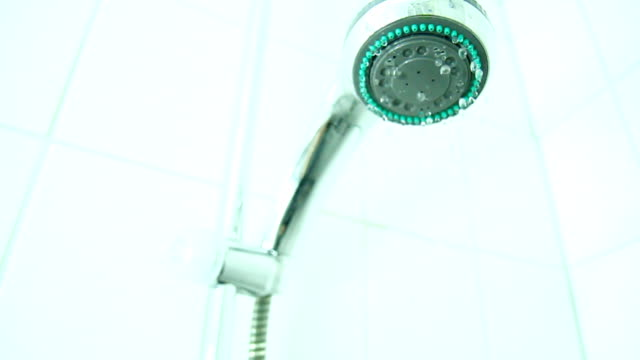 Shower being Turned Off (Close-Up)
