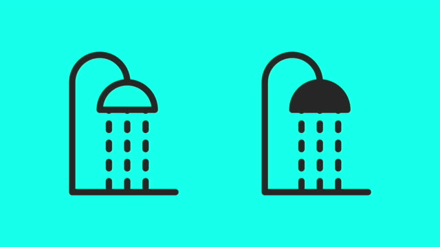 shower head - vector animate - computer icon stock videos & royalty-free footage