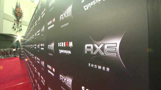 vídeos y material grabado en eventos de stock de shower presents the world premiere of 'scream 4' at hollywood ca. - scream named work