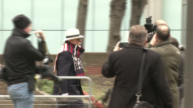 showing exterior shots of singer gary glitter paul gadd departs southwark crown court on november 11 2014 in london england - huvudbonad bildbanksvideor och videomaterial från bakom kulisserna