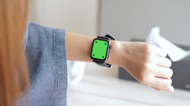showing smartwatch screen ,chromakey - wrist stock videos & royalty-free footage