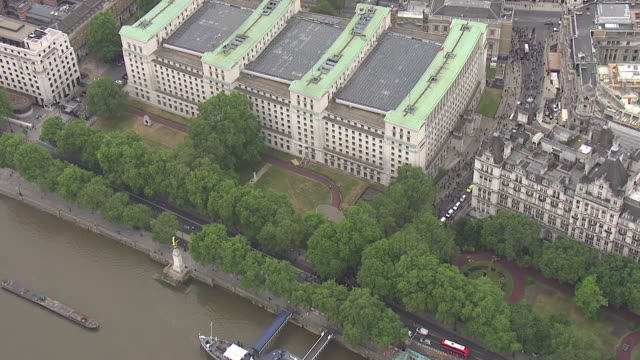 shows aerial shots black lives matter protesters marching past the ministry of defence and march snaking back along whitehall through parliament... - department of defense stock videos & royalty-free footage